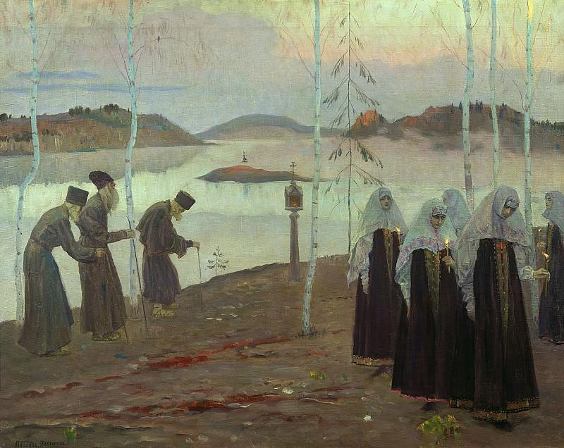Отцы пустынники и жены непорочны 1932 холст масло. Mikhail Nesterov