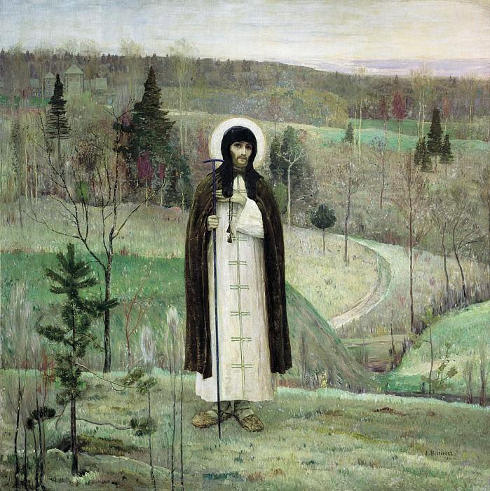 Преподобный Сергий Радонежский 1899 холст масло 248х248 см. Mikhail Nesterov