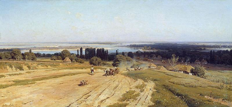Вид на Украине 1883 Холст масло. Владимир Орловский