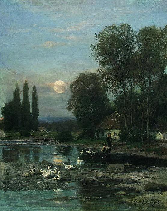 Украинский пейзаж. 1880-е. Vladimir Orlovsky