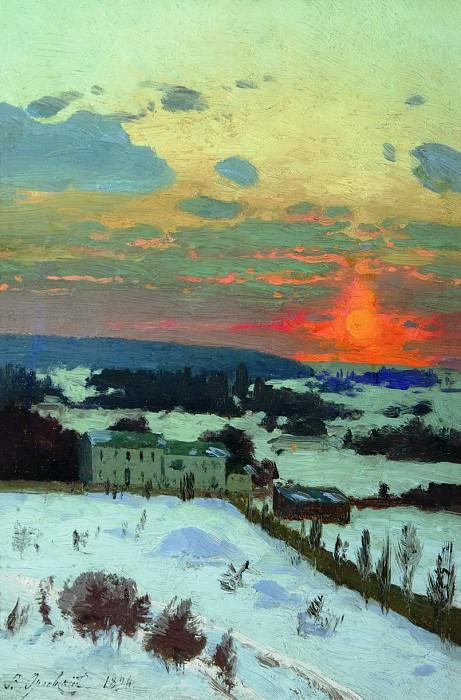 Закат. 1896. Vladimir Orlovsky