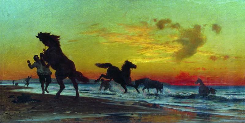 Купание коней. Vladimir Orlovsky