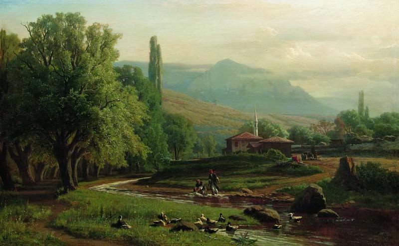 Крымский летний пейзаж. 1870. Vladimir Orlovsky