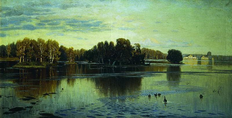 Пруд. Летний вечер. 1890-е. Vladimir Orlovsky