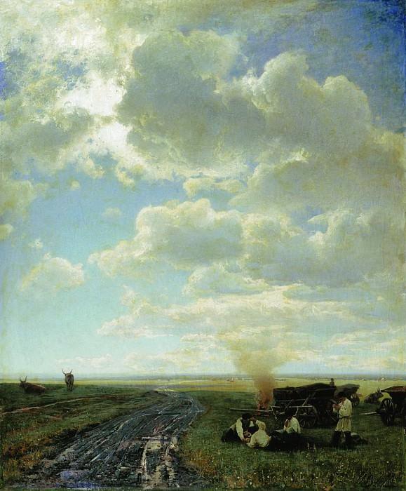 Отдых в степи. 1884. Владимир Орловский