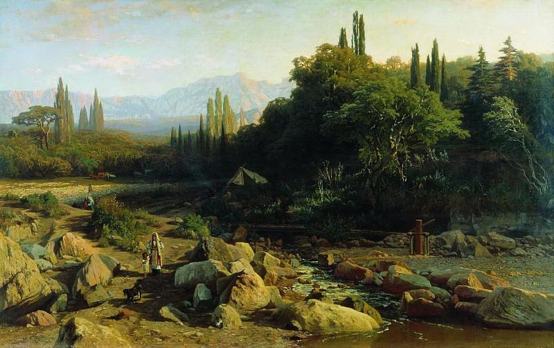 Крым. Пейзаж с речкой. 1868. Vladimir Orlovsky