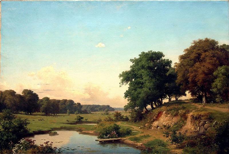 Пейзаж с прудиком. 1880-е. Vladimir Orlovsky