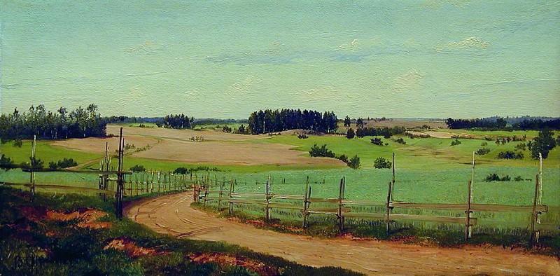 Летний пейзаж с дорогой. 1870-е. Vladimir Orlovsky