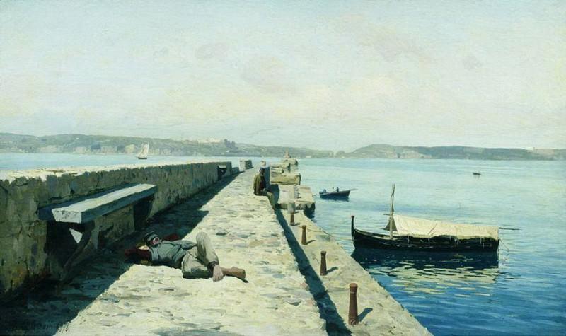 Город Поццуоли близ Неаполя. 1876. Vladimir Orlovsky