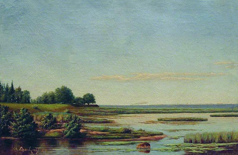 Летний пейзаж. 1874. Vladimir Orlovsky