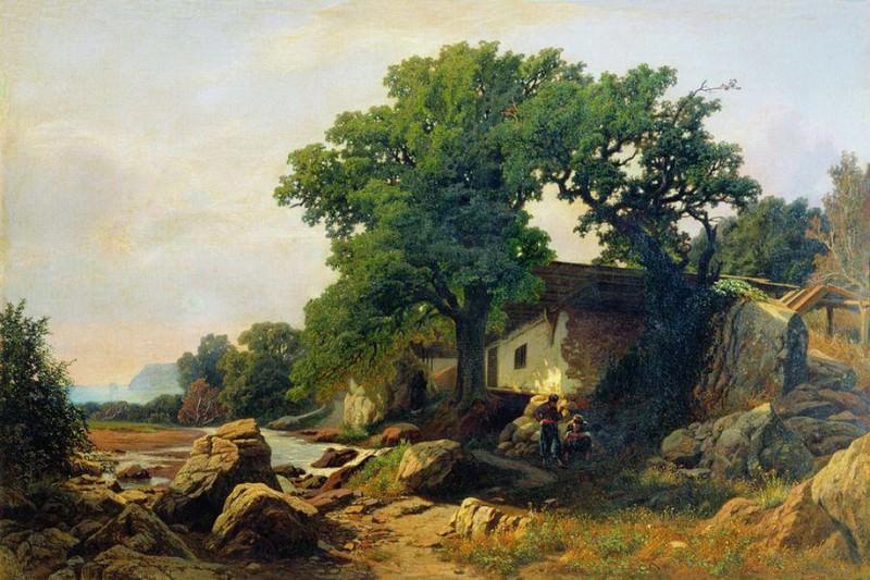 Пейзаж в окрестностях Алушты. 1870. Vladimir Orlovsky