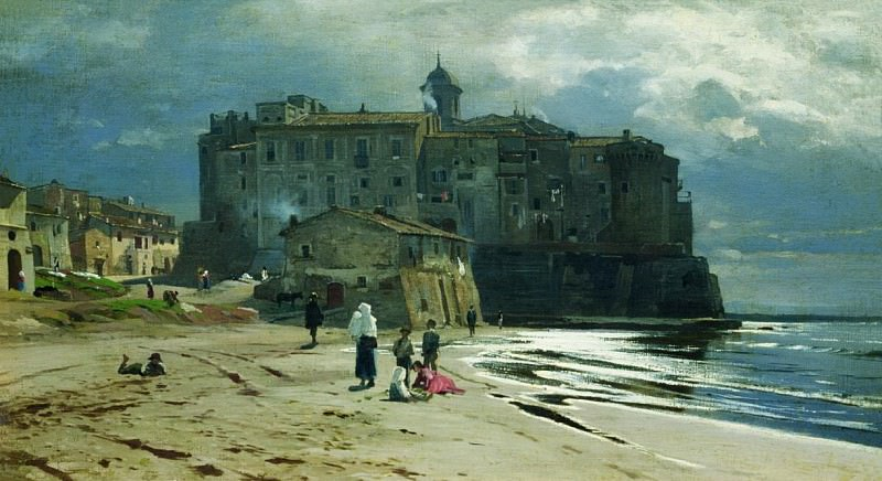 Город на берегу моря. Середина 1870-х. Vladimir Orlovsky