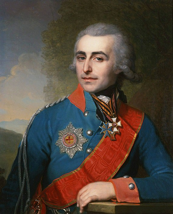 Portrait of Adjutant General Count Peter Alexandrovich Tolstoy. Vladimir Borovikovsky