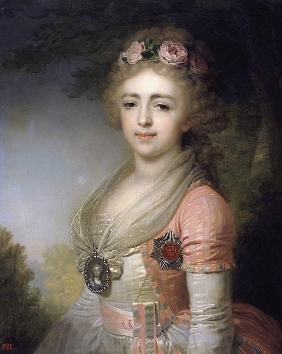 Portrait of Grand Duchess Alexandra Pavlovna <!--#2-->. Vladimir Borovikovsky