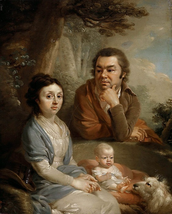 Family portrait (Vasily Alexandrovich and Avdotya Silvestrovna Nebolsins with a child). Vladimir Borovikovsky