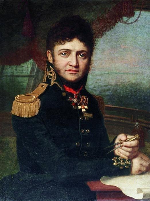 Portrait of Captain 1st Rank Yuri Fedorovich Lisyansky <!--#3-->. Vladimir Borovikovsky