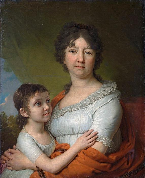 Portrait of Anna Labzina with her pupil Sofia Mudrova. Vladimir Borovikovsky