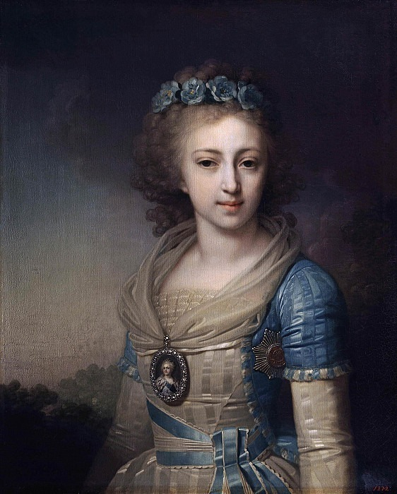 Portrait of Grand Duchess Elena Pavlovna<!--#1-->. Vladimir Borovikovsky