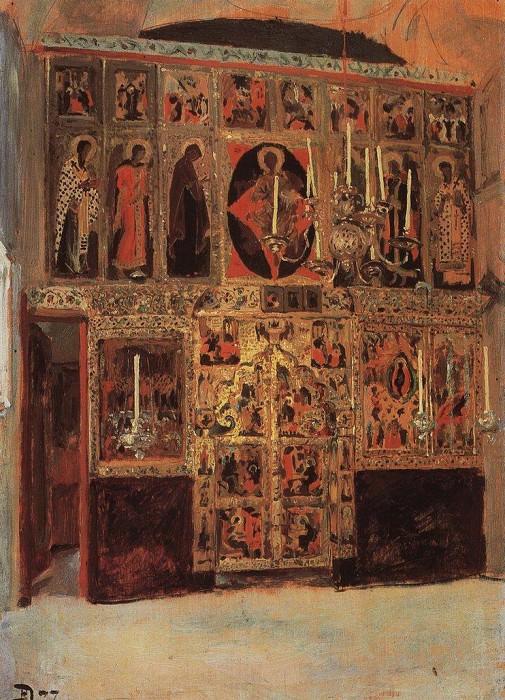 Благовещенский собор. Придел собора Пресвятой Богородицы в главе. 1877. Vasily Polenov