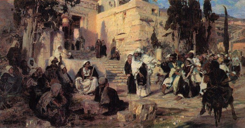 Christ and the Sinner. Vasily Polenov