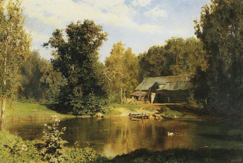 Пруд в Абрамцеве. 1883. Vasily Polenov