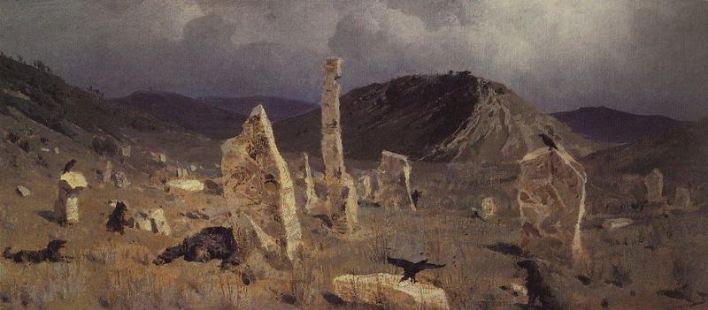 Убитый солдат. Близ селения Мечки. 1883. Vasily Polenov