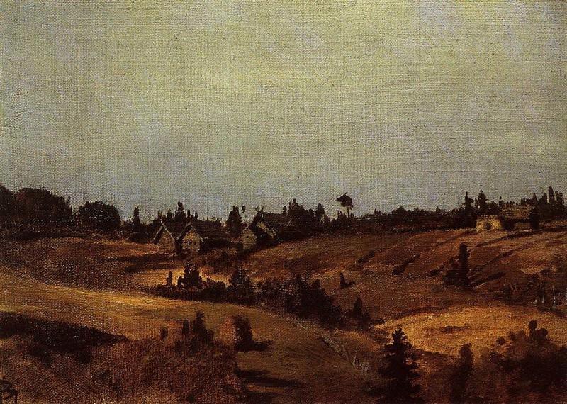 Деревня Окулова гора. 1860-е. Vasily Polenov