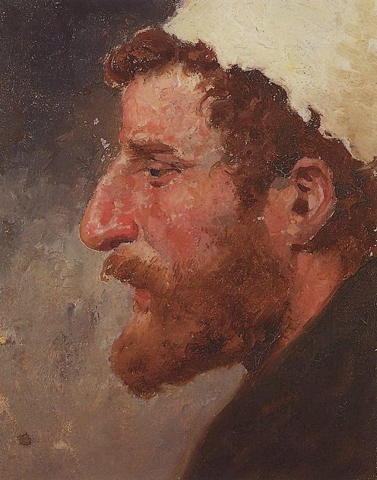 Голова рыжего мужчины (в профиль). 1880-е. Vasily Polenov