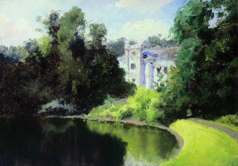 Пруд в парке. Ольшанка. 1877. Василий Дмитриевич Поленов