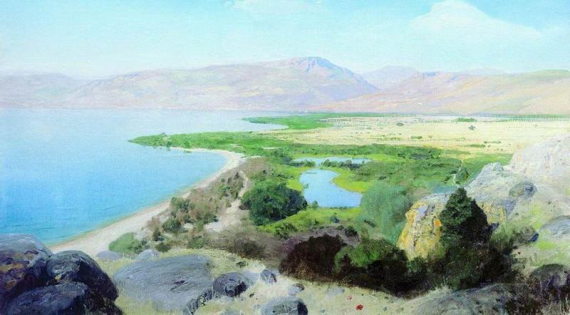Генисаретское озеро. 1880-е. Vasily Polenov