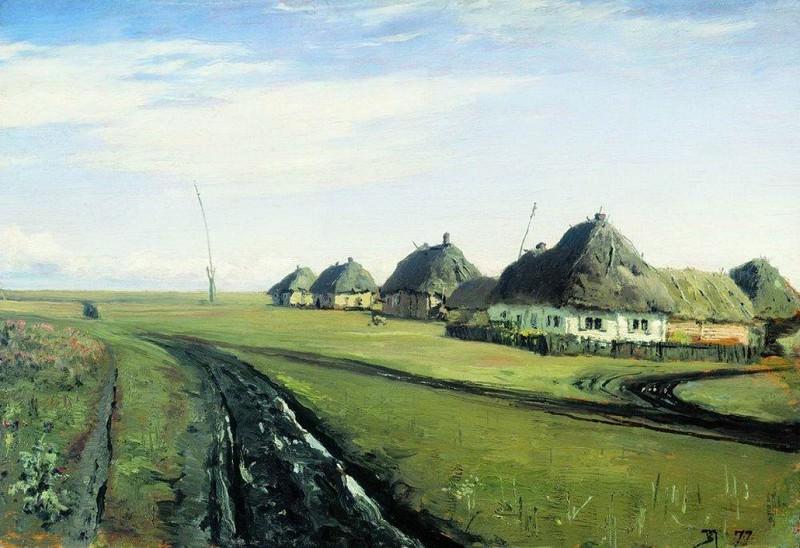 Дорога у деревни. 1877. Vasily Polenov