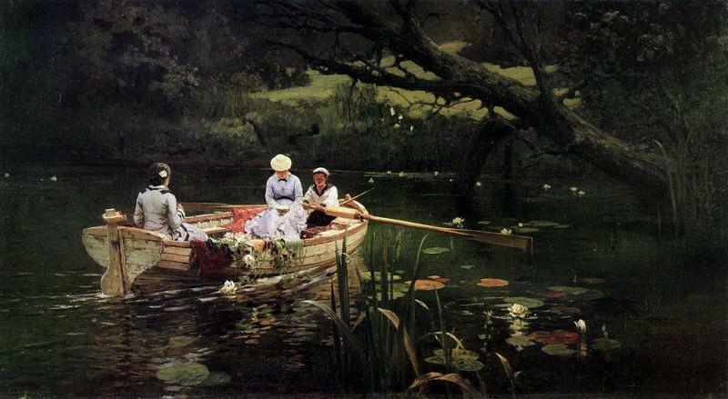 На лодке. Абрамцево. 1880. Vasily Polenov