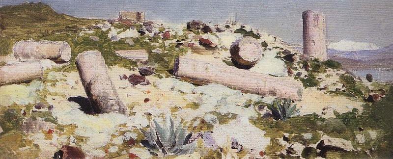 Развалины Тивериады. 1882-1883. Василий Дмитриевич Поленов