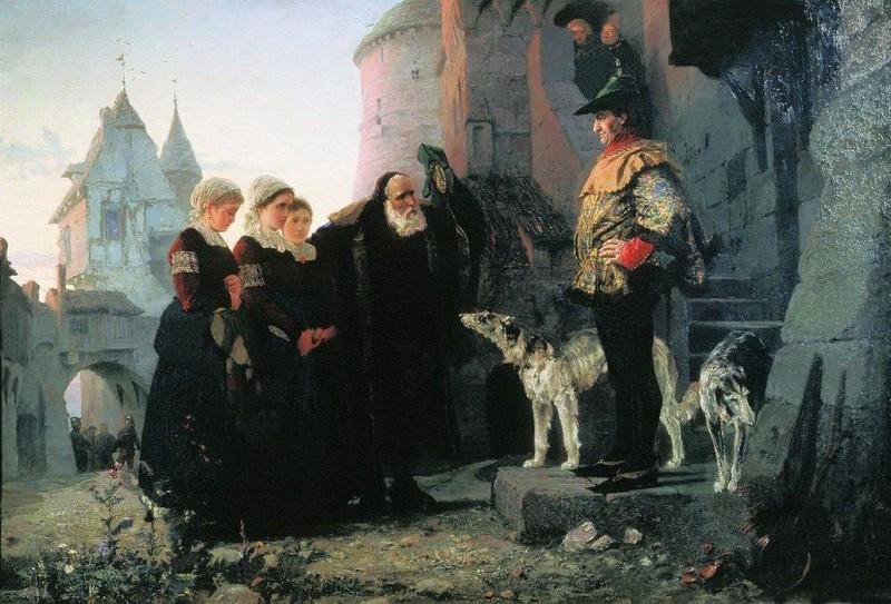 Право господина. 1874. Vasily Polenov
