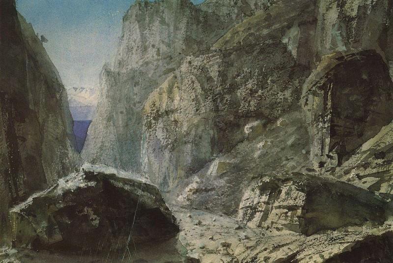 Ущелье среди скалистых гор. 1897. Vasily Polenov