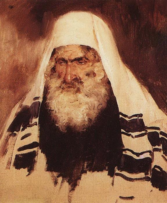 Голова старого еврея. 1895. Vasily Polenov