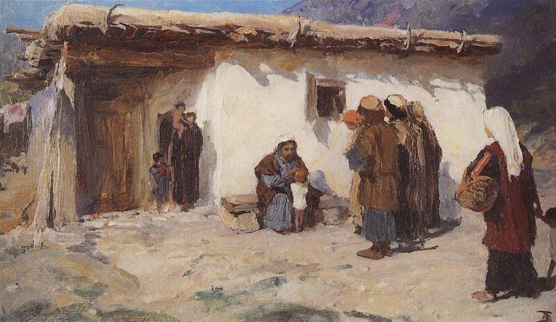 Привели детей 1. 1890-1900-е. Vasily Polenov