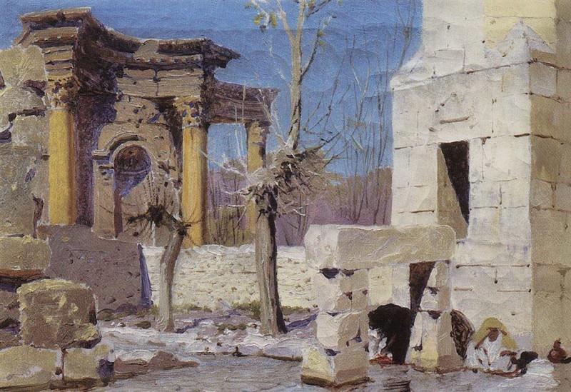 Баальбек. 1882. Vasily Polenov