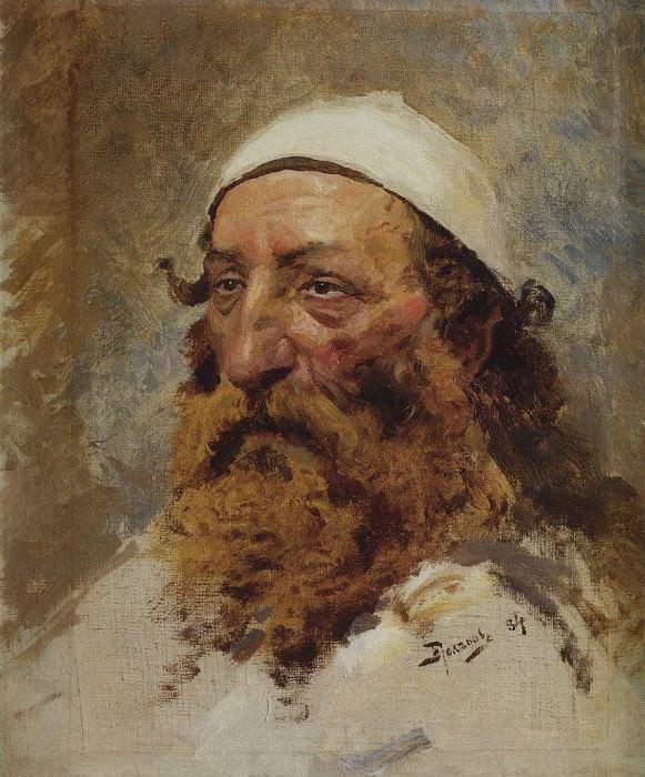 Голова еврея. 1884. Vasily Polenov
