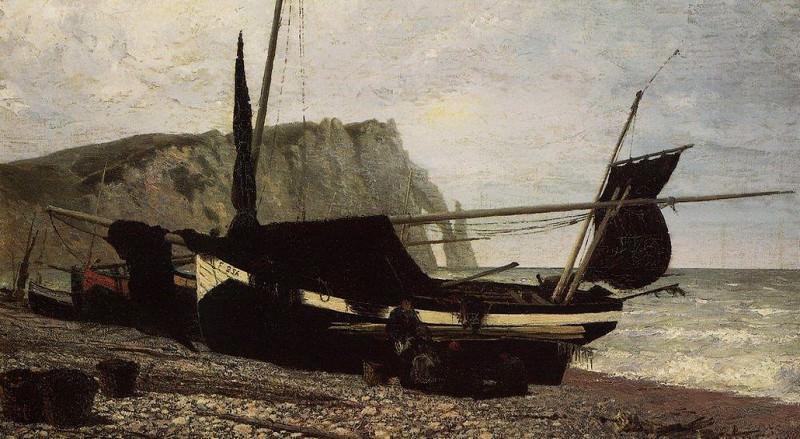 Рыбацкая лодка. Этрета. Нормандия. 1874. Vasily Polenov