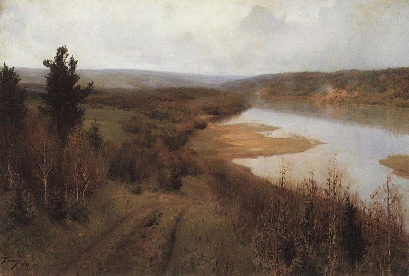 Стынет. Осень на Оке близ Тарусы. 1893. Vasily Polenov