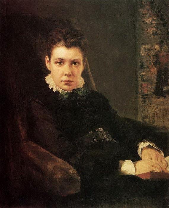 Портрет В.Д.Хрущевой, сестры художника. 1874. Vasily Polenov
