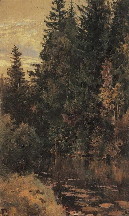 Пруд. 1880. Василий Дмитриевич Поленов