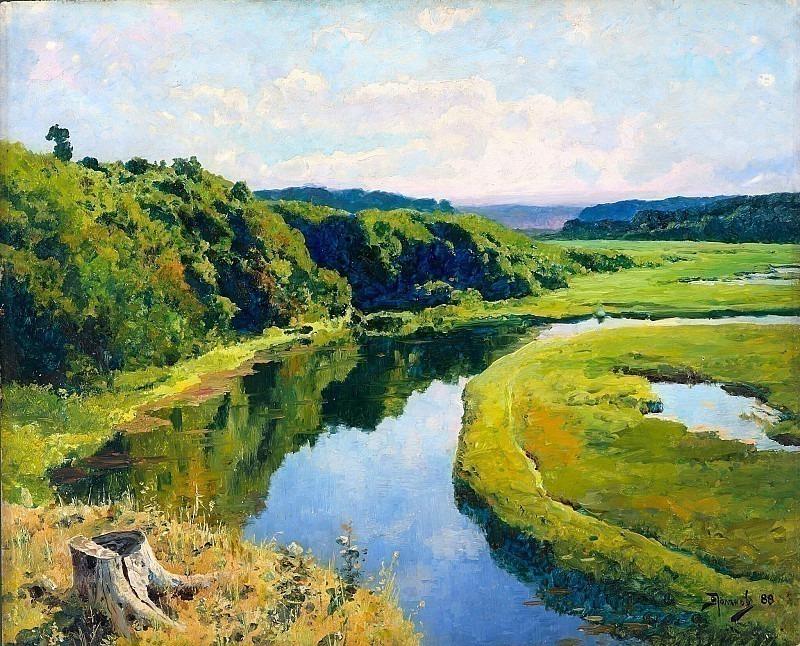 Река Клязьма. Жуковка. Василий Дмитриевич Поленов