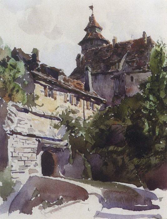 Уголок средневекового города со стеной. 1889. Vasily Polenov