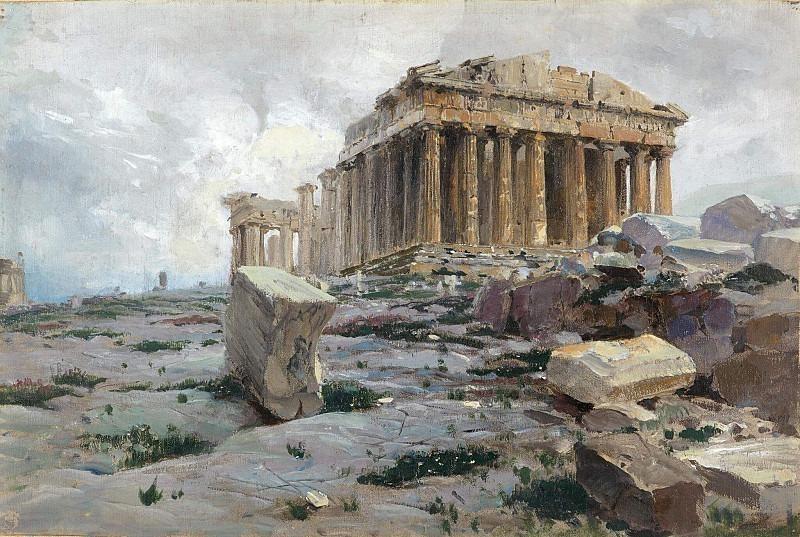 Parthenon. Temple of Athena-Parthenos. Vasily Polenov