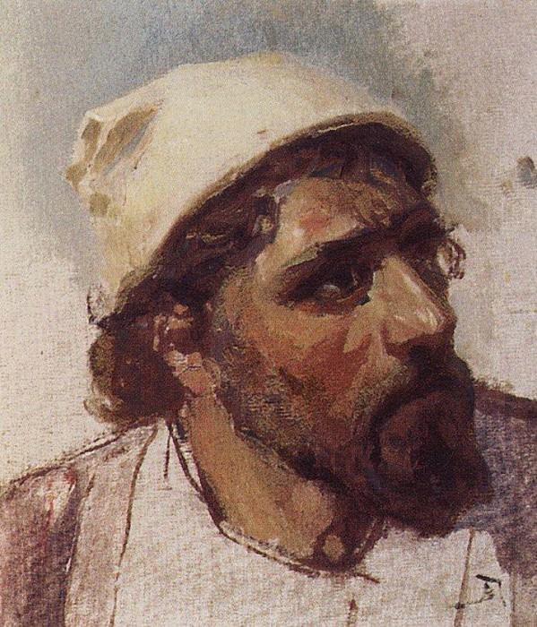 Голова Христа. Около 1887. Vasily Polenov