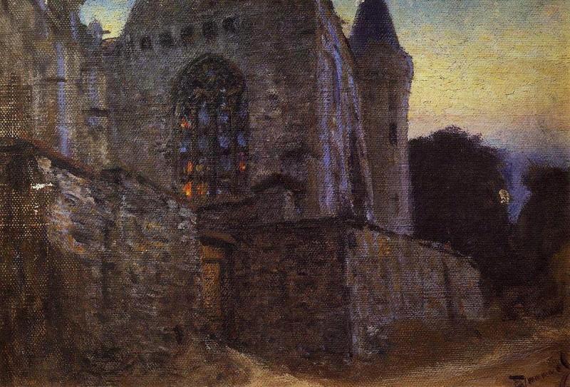 Аббатство в Редоне. 1873-1876. Vasily Polenov