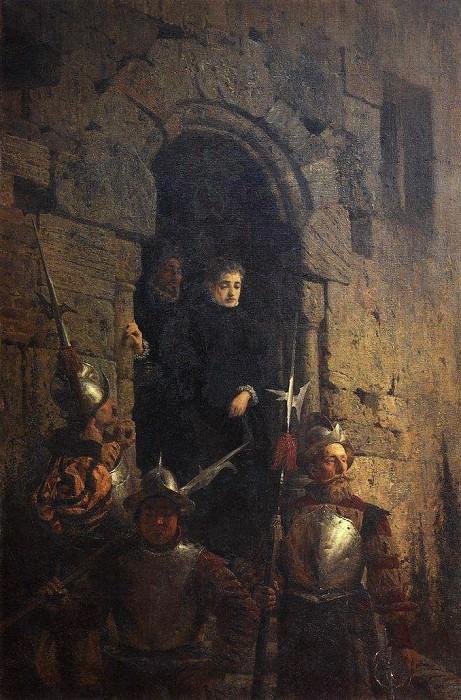 Арест гугенотки Жакобин де Монтебель, графини дЭтремон. 1875. Василий Дмитриевич Поленов