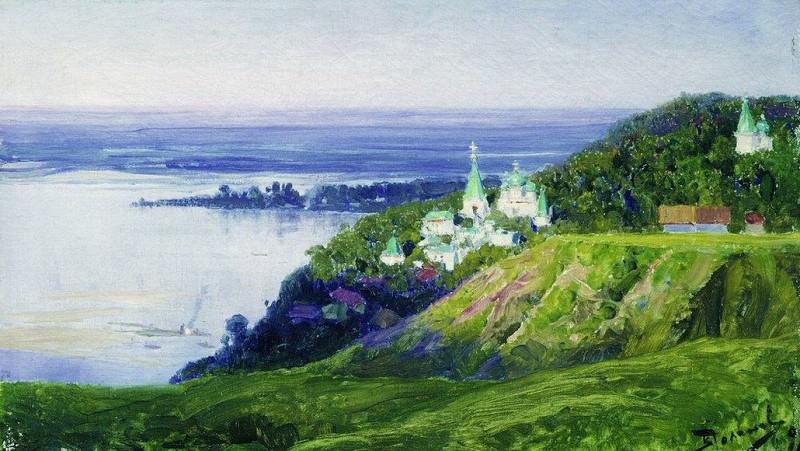 Монастырь над рекой. 1898. Vasily Polenov